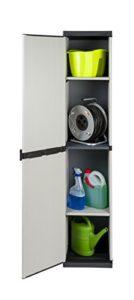 Hoher Nischenschrank mit spritzwassergeschützter Deckel- & Bodenplatte sowie 3 Einlegeböden | Hoher Nischenschrank | Schrank schmal