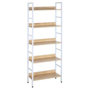 Bücherregal Schmal ♥ HOHES SCHMALES REGAL ♥ Stahl ♥ Holz ♥ Weiß ♥ hell Eiche