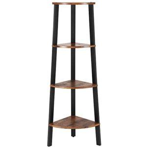 Leiterregal ♥ Standregal  ♥ Eisenrahmen, Holzspannplatte ♥ Mattschwarzer Rahmen in Kombination mit Vintage-Regalböden