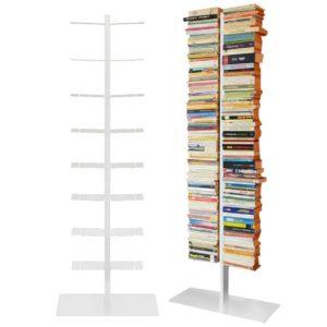 Booksbaum ♥ BÜCHERREGAL SCHMAL HOCH ♥ Stahl gepulvert  ♥ Weiß