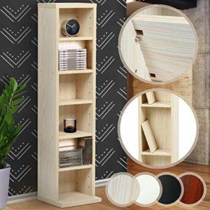 CD Regal Holz ♥ DVD Aufbewahrungssystem ♥ leichtes Material: MDF-Platte ♥ in Schwarz, Weiß, Ahorn oder Mocca