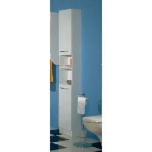 AVANTI TRENDSTORE - Hochschrank weiss ♥ Hochschrank schmal ♥schmaler Badschrank ♥  ♥ Weiß ♥ Griff: chrom glanz