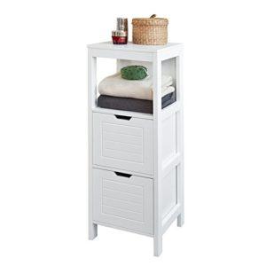 schmaler Badezimmerschrank ♥ schmaler hoher Schrank ♥ MDF ♥ Weiß