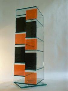 CD Halter ♥ CD Regal Acryl ♥ Ausführung komplett in Klarglas 10/15 mm, alle Kanten sind hochglanz poliert und miteinanander UV-verklebt ♥ Klarglas