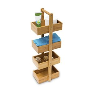Regal 30 cm breit ♥ Schmale Regale ♥ Schmales Regal Küche ♥ Bambus ♥ Holzfarben