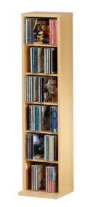 CD DVD Regal ♥ CD Ständer Holz ♥ Holzstruktur-Nachbildung ♥ Buche