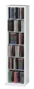 DVD Ständer ♥ CD Staender ♥ Holzstruktur-Nachbildung ♥ Weiß