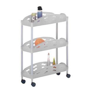 Nischenwagen Küche ♥ Nischenwagen Weiß ♥ Kunststoff (PP) ♥ Weiß ♥ Grau
