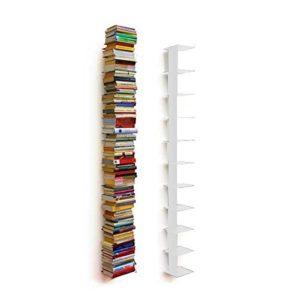 SCHMALES REGAL WEIß - Haseform Bücherturm 170 cm (für 1 ♥ 80 m Bücher) weiss ♥ Bücherregal ♥ Wandregal