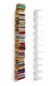 Bücherregal Schmal ♥ Stahl pulverbeschichtet ♥ Weiß